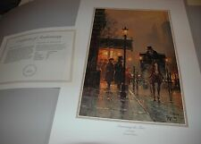 G Harvey DISCUSSING THE FARE - S/N paper Limited Edition w/ COA Horse Carriage