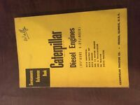 """CAT CATERPILLAR DIESEL ENGINE SERVICEMEN'S REFERENCE BOOK MANUAL 6 CYL 4 1/2"""""""