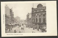 Postcard Newcastle Upon Tyne early view Blackett Street by Allan undivided back