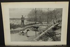 """Harper's Weekly Single Pg. """"Chilly Work""""  C1890s  B4#12"""