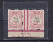 K415) Australia 1932 Grey & Pink C of A wmk Kangaroos. Well centred very fine