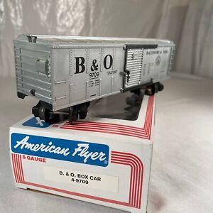 American Flyer S Scale B&O Box Car 4-9709 S Gauge Rolling Stock