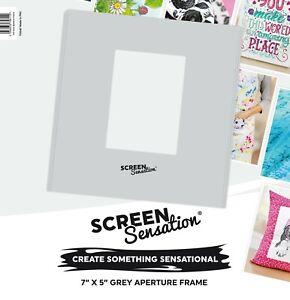 "Screen Sensation - 7"" x 5"" Aperture Frame , Grey"