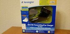 Brand New Kensington RDS FM Transmitter/Auto Charger for iPod Black (K33364EU)