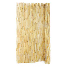 """Natural Peeled Reed Fencing Economical Flexible Outdoor Garden Lawn 48"""" X 8 Ft"""