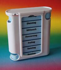 Tablettendose Wochen-Pillendose für 7 Tage Pillenbox Beschriftet
