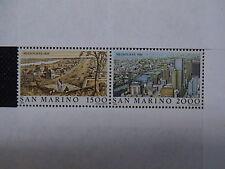 SAN MARINO 1984 serie 2 francobolli TEMATICA CITTA' deI MONDO MELBOURNE em.008C