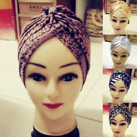Fashion Boho Lady Knotted Flower Elastic Twisted Turban Hair Band Yoga Head Wrap
