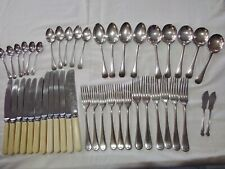 Vintage EPNS silver plated 'Dixon' cutlery. Faux bone handed knives.