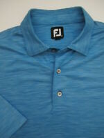 Mens XL FootJoy FJ poly spandex heather blue golf polo shirt