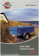 Stema Anhänger Blue Man Prospekt 9/10 2010 brochure Camping Trailer broschyr