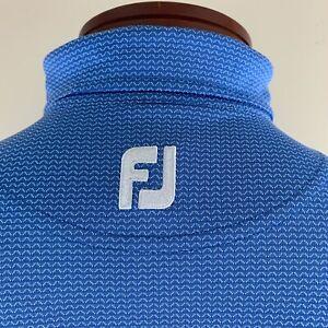 FOOTJOY Men's Athletic Fit Wave Print Golf Polo Shirt Size L