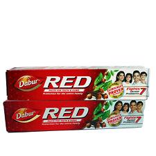 Dabur Red Zahnpasta, 2 Großtuben á 200g , mit Chilli, Pfeffer