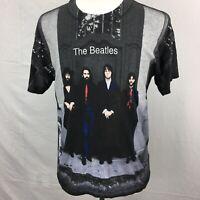 VTG 1990s The Beatles Hey Jude 2-Sided All Over Print Mens T Shirt L 90s Lennon