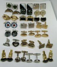 Vintage Lot 22 Pair Men's Cufflinks Hickok,Swank,S.Cov,Krementz,Gold Silver tone