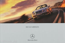 Mercedes CLK Cabriolet Prospekt 2001 1/01 brochure 430 320 230 200 Kompressor