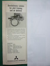 4/1969 PUB MITSUBISHI ELECTRIC 16 MM RADAR SCOPE CAMERA F-104 MIRAGE CYRANO AD