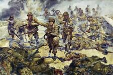 """Strike Attack"" James Dietz Print - LTC Cole, 101st Airborne, Carentan 1944"