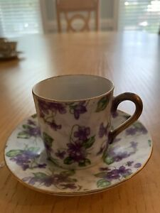 Limoges Inspired tea cup & saucer, Antique
