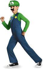 Nintendo Super Mario Brothers Luigi Classic Boys Costume, Small (4-6)