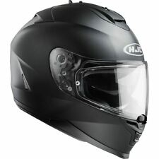 HJC IS-17 Full Face Motorcycle Motorbike Crash Helmet Plain Matt Black Pinlock