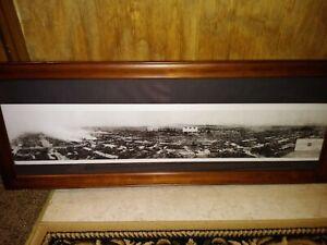 KC Stockyards 1st act terrorism on US soil 1917 Stockyard fire 15 x 39 framed