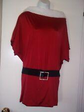 Fredericks of Hollywood  Santa Costume Dress ~Medium~Belt~White Fur Collar