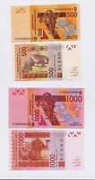 New:BENIN 500 & 1000 Francs Banknotes (2017) series signature West Africa