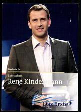 Rene Kindermann Sportschau Autogrammkarte Original Signiert ## BC 16398