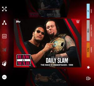 Topps Slam - (2021) DAILY SLAM JULY MOTION - THE ROCK & UNDERTAKER 1999 *Digital