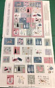 Hygge Christmas Advent Panel 100% Cotton Fabric Craft