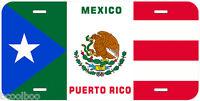 Puerto Rico Mexico Flag Novelty Car License Plate