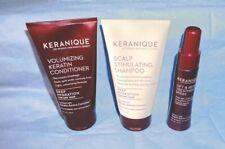 KERANIQUE Kit:  Hair Products-Volumizing, Scalp Stimulation & Lift and Repair