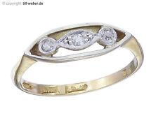 "Ring Antik ""Besatzdiamanten"" Gold England ca. 1910 - 1920"