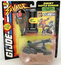 1994 GI Joe Sgt. Savage Cyborg General Blitz Enemy Battle Bunker w/ Comic New