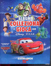 G5  ALBUM COLLEZIONA E GIOCA CON DISNEY PIXAR - ESSELUNGA - COMPLETO