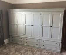 Painted 6 Door Wardrobe 6 Drawer - Victorian Style with plinth