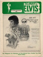 Elvis Presley Fan Club Magazine Oct/Nov 1980