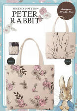 Beatrix Potter Peter Rabbit Canvas Tote Bag Outside & Inside Pockets