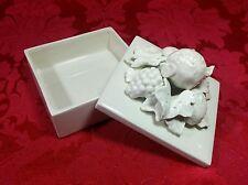 Vintage 1977 Fitz & Floyd Ff Porcelain Fruit Bunch Keepsake Trinket Jewelry Box