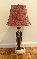 """Vintage Revolutionary War Soldier 28"""" Table Lamp Red White Blue Sears Roebuck"""