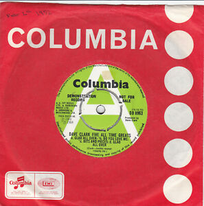 THE DAVE CLARK FIVE - All time greats / Wild weekend Orig. Demo single EX cond.