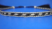 "Western Horse Hair Hat Band Black/White HH03 Approx. 3/8"" Wide"