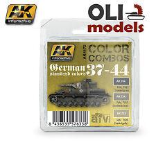 Color Combos GERMAN STANDARD COLORS 37-44 Paint Set 3x17ml - AK Interactive 4172