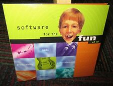 SOFTWARE FOR THE FUN OF IT 5-DISC PC CD ROM SET, AMAZON TRAIL, READER,LEAP AHEAD