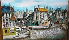 Robert Scott Original Signed Paris Street Scene Oil Painting Parisian