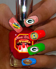 Green Bay Packers Fans! Vinyl Peel and Stick Nail Decals . WS-GBP01-35