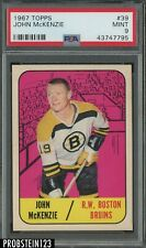 1967 Topps Hockey #39 John McKenzie Boston Bruins PSA 9 MINT