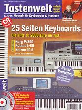 Tastenwelt 06 2006 Mit CD Keyboards im Hörvergleich / Workshops Spielpraxis