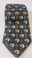 "Rene Chagal Panda Bears Dress Necktie Rene Chagal Handmade Silk 58"" Christmas"